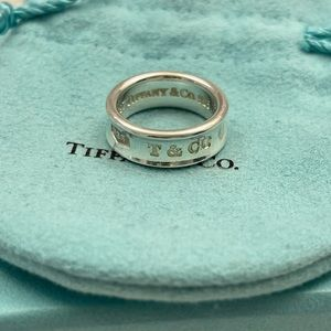Tiffany & Co Sterling Silver 1837 Ring Size 5.5